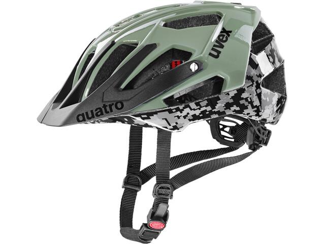UVEX Quatro Helmet, pixelcamo/olive